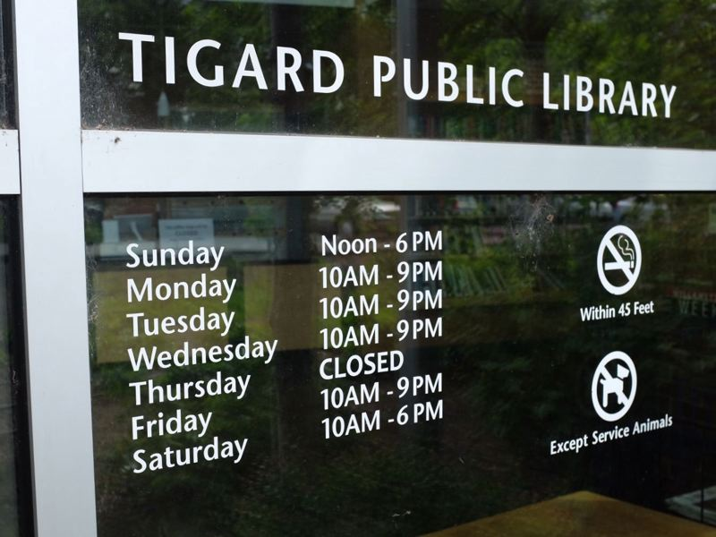 PMG FILE PHOTO - Tigard Public Library staff said a First Amendment auditor who visited in January was courtesy and polite.