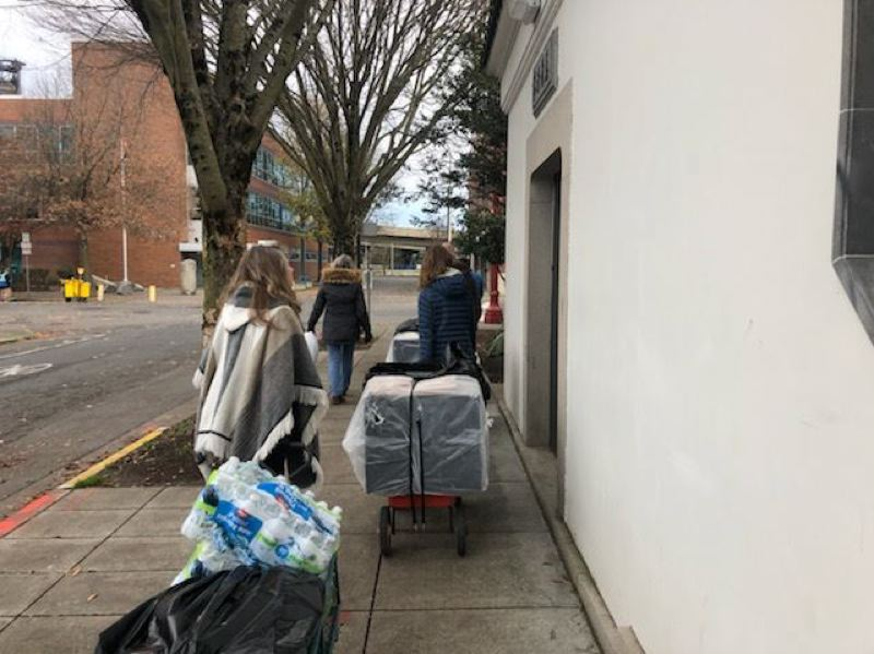 PMG FILE PHOTO - True Life youth group delivers food to Portland's homeless.