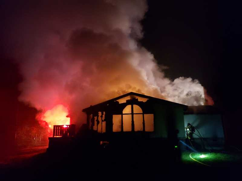 SCAPPOOSE FIRE DISTRICT - A fire at a triple-wide house on Chapman Road resulted in one dead early Thursday morning, Feb. 13.