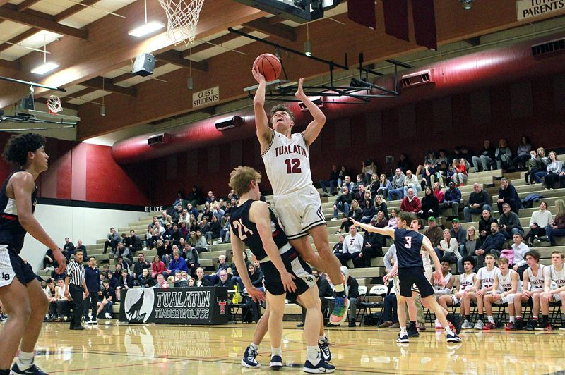 PMG PHOTO: MILES VANCE - Tualatin's Sam Noland and the Timberwolves are back in action at 5:45 p.m. today (Friday, Feb. 14) when they host West Linn at 5:45 p.m.