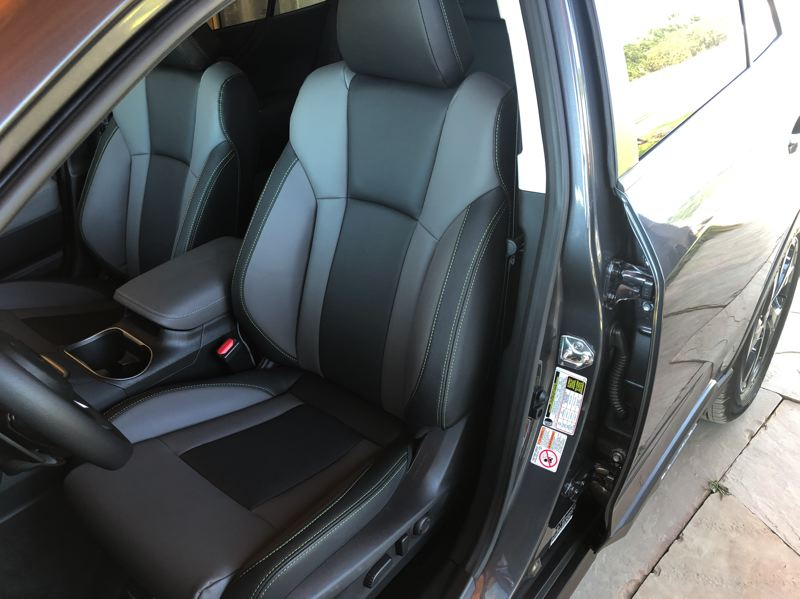 PMG PHOTO: JEFF ZURSCHMEIDE - The Onyx Edition of the 2020 Subaru Outback features seats covered with special StarTex material to resist the elements.