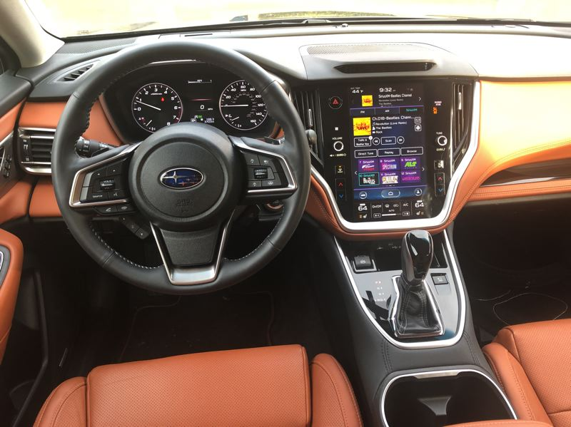 PMG PHOTO: JEFF ZURSCHMEIDE - Just looking at the interior, it's hard to tell the difference between the Subary Legacy and Outback. This is the Legacy.