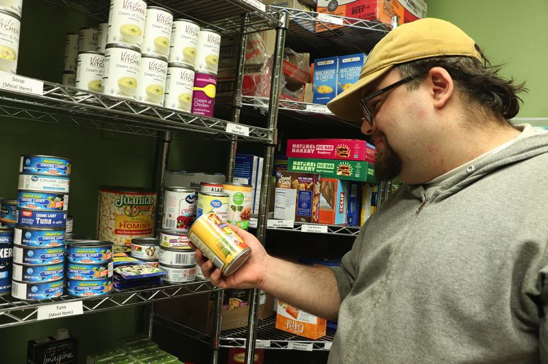 COURTESY PHOTO: MT. HOOD COMMUNITY COLLEGE - Barry Morganti, a machine tool technology student at Mt. Hood Community College, is one of many students that use the school's food pantry to supplement their food budgets.