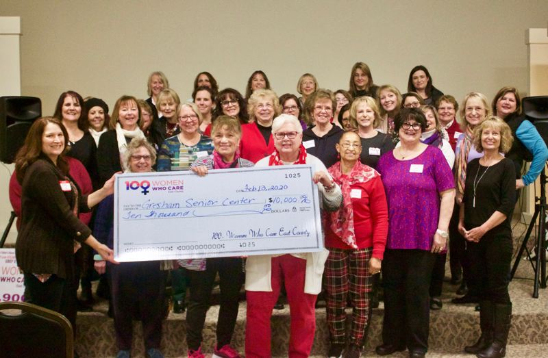 PMG PHOTO: CHRISTOPHER KEIZUR - 100+ Women Who Care East County made a $10,000 donation to support the Gresham Senior Center.