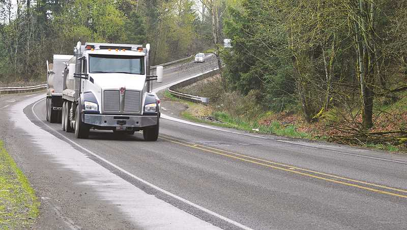 GRAPHIC FILE PHOTO - Marion County Commissioner Sam Brentano contends that the opening of the first phase of the Newberg-Dundee bypass has caused an increase in the number of vehicles plying rural county byways like McKay Road.