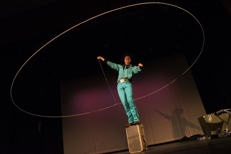 COURTESY PHOTO - Leapin' Louie is part of the entertainment in the Clowns Without Borders show at Alberta Rose Theatre.