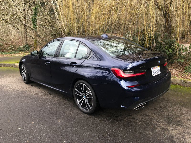 PMG PHOTO: JEFF ZURSCHMEIDE - On the road, the M340i feels solid and inspires confidence. Even in heavy rain, the xDrive system delivers constant traction and crisp steering.