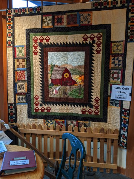 PMG PHOTO: BRITTANY ALLEN - As a fundraiser for the Sandy Historical Society, the Sandy Quilting and Fiber Arts Club creates a quilt to raffle off every year. Tickets for this years quilt already are available.