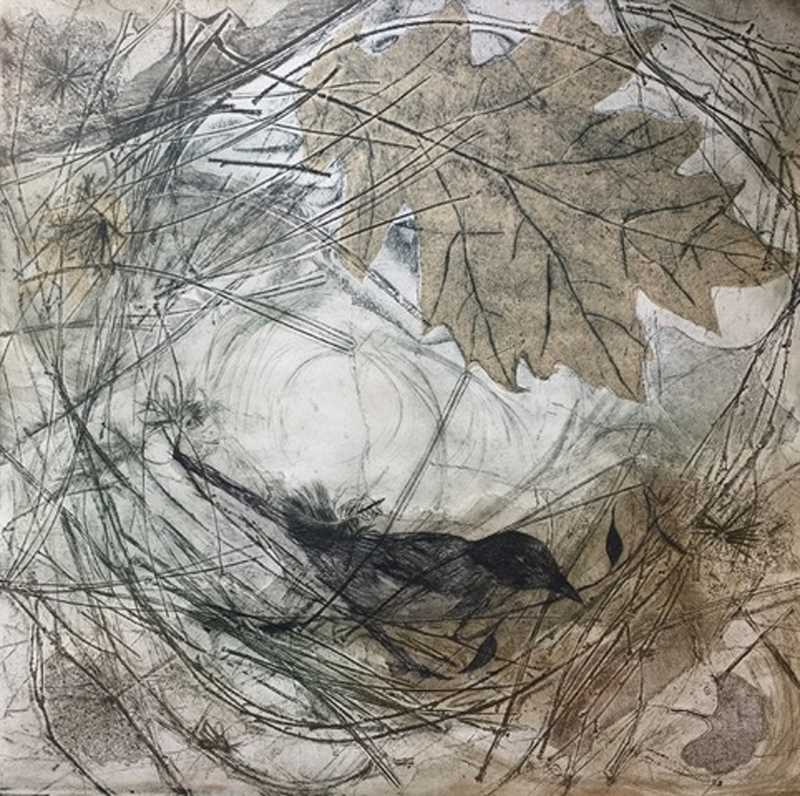 Jani Hoberg will be exhibiting her intaglio paintings at the Home & Garden Show this weekend. This piece is title Wind Swept.
