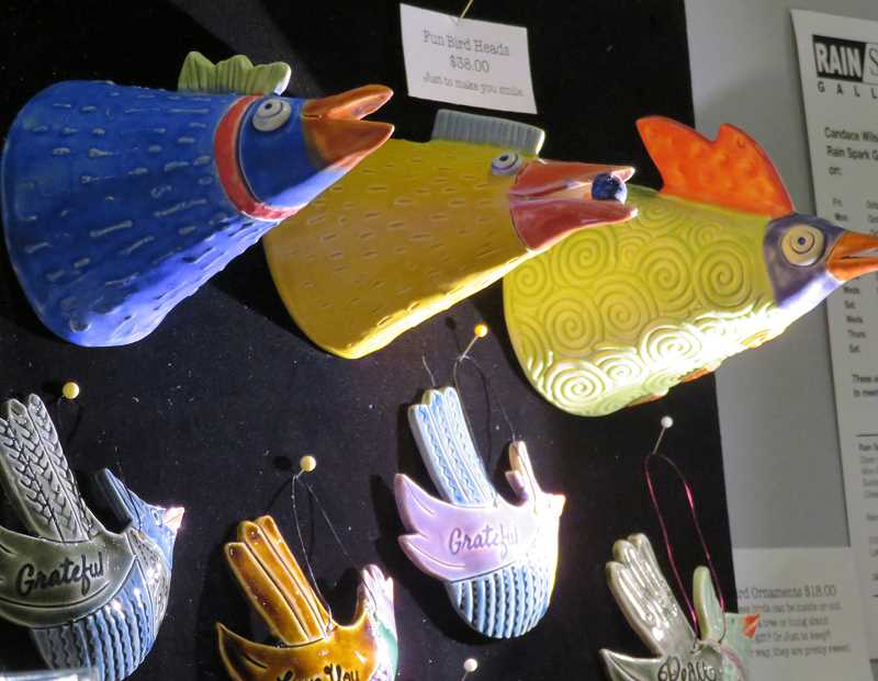 Candace Wilson will exhibit her whimsical ceramic pieces at the Home & Garden Show this weekend.