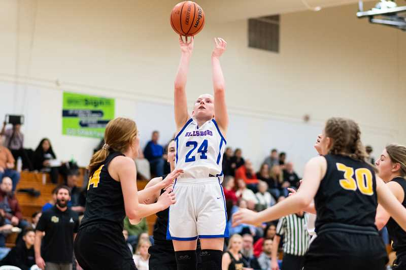 PMG FILE PHOTO: CHRISTOPHER OERTELL - Hillsboro's Kylie Fernstrom during a Spartans game versus St. Helens earlier this season. Fernstrom made 11 3-pointers en route to 44 points in Hilhi's win Tuesday, Feb. 18.