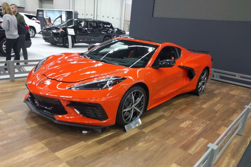 PMG PHOTO: JIM REDDEN - The all-new mid-engine Chevy Corvette on display at the 2020 Portland International Auto Show.