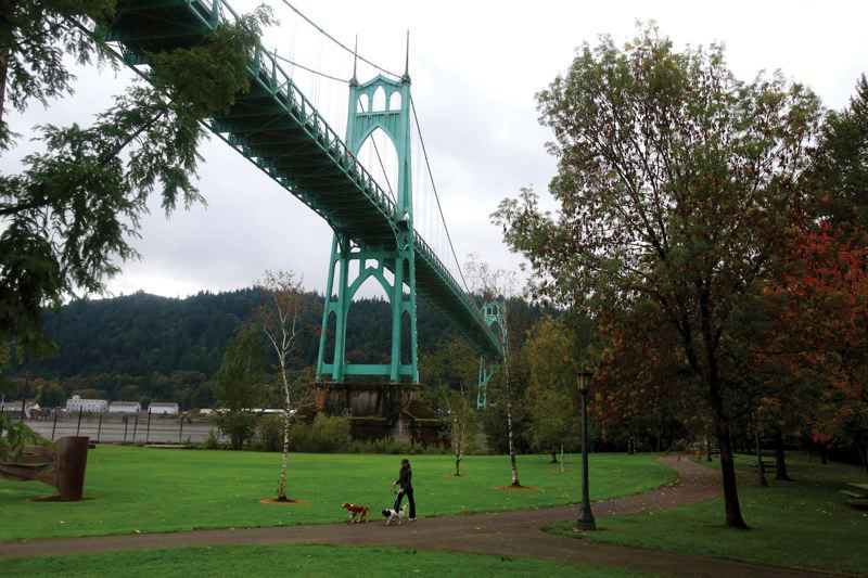 PMG FILE PHOTO - Maintenace work will close the St. Johns Bridge for five nights starting Monday, Feb. 24.