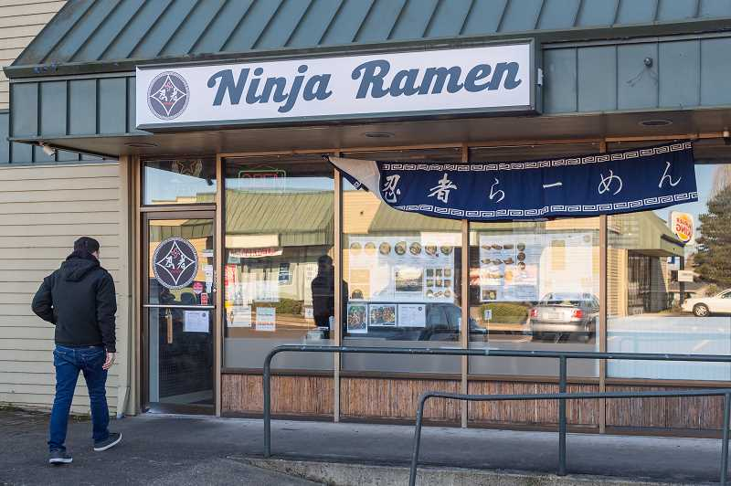 PMG PHOTO: CHRISTOPHER OERTELL - Ninja Ramen is located near the Hillsboro Airport. It offers classic Japanese dishes, such as tonkotsu pork bone broth ramen and fried chicken karaage.