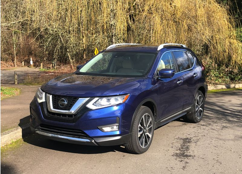 PMG PHOTO: JEFF ZURSCHMEIDE - The 2020 Nissan Rogue offers tremendous value for thrifty shoppers with all-wheel-drive an option for just $1,350 that improves traction in wet Pacific Northwest weather. And the Safety Shield 360 safety package is standard on every trum level.