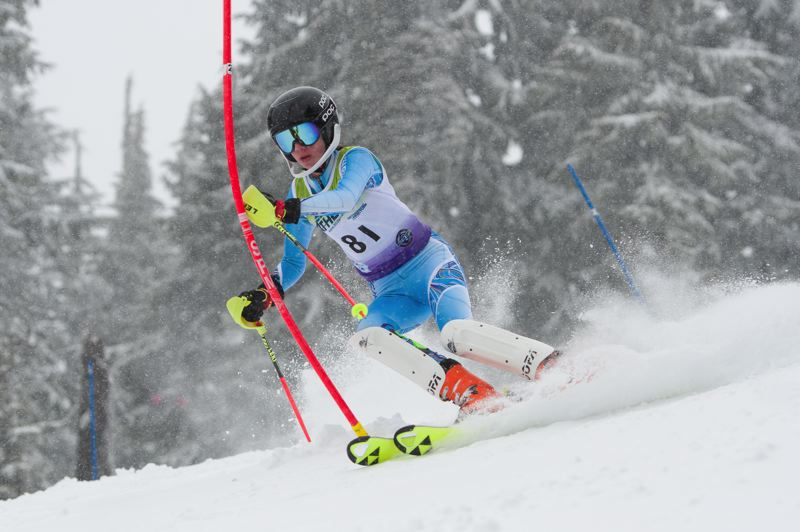 COURTESY PHOTO: MIKE JULIANA - Sherwood High School freshman Jessica Trost finished in second place in the Metro League slalom ski race held Feb. 15