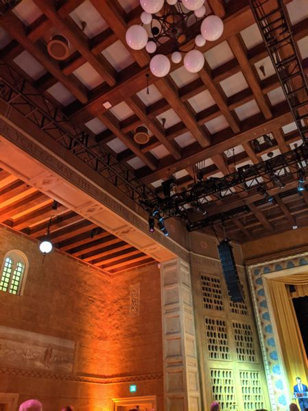 PMG: JOSEPH GALLIVAN - The Portland Art Museum held its first public function in the Kridel Grand Ballroom since a portion of the ceiling fell in last September.