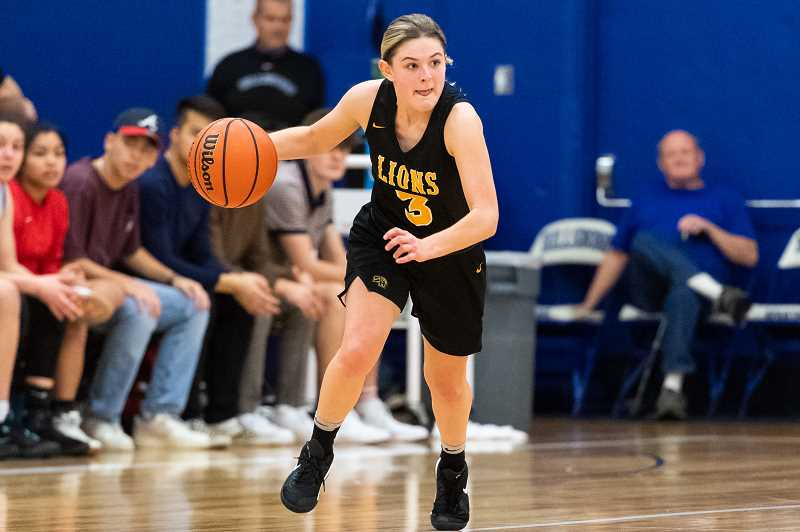PMG FILE PHOTO - St. Helens junior Maria Reardon scored 14 points to help the Lions sweep Scappoose last week.