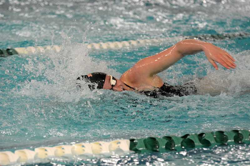 PMG PHOTO: DEREK WILEY - The Scappoose girls swimming team took seventh at the Northwest Oregon Conference District meet.