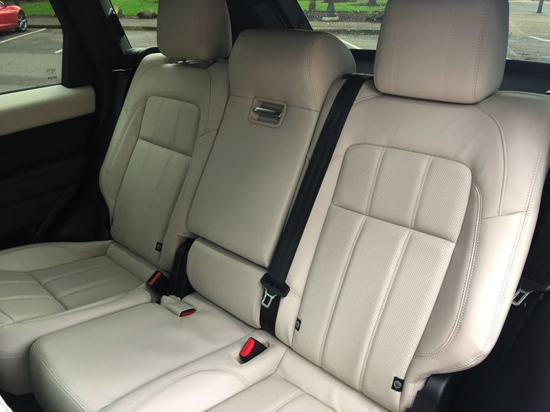 PMG PHOTO: JEFF ZURSCHMEIDE - The Range Rover Sport will seat five adults in comfort in the front and second rows. For those occasions when you really need more seats, there are two more seats in a third row.