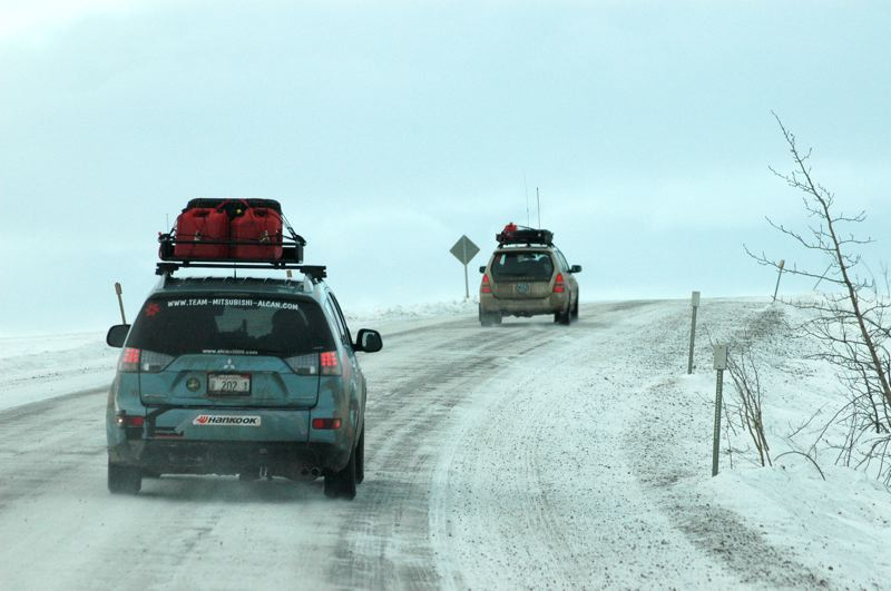 PMG PHOTO: JEFF ZURSCHMEIDE - A photograph from a previous Alcan 5000 Winter Rally shows some of the conditions.
