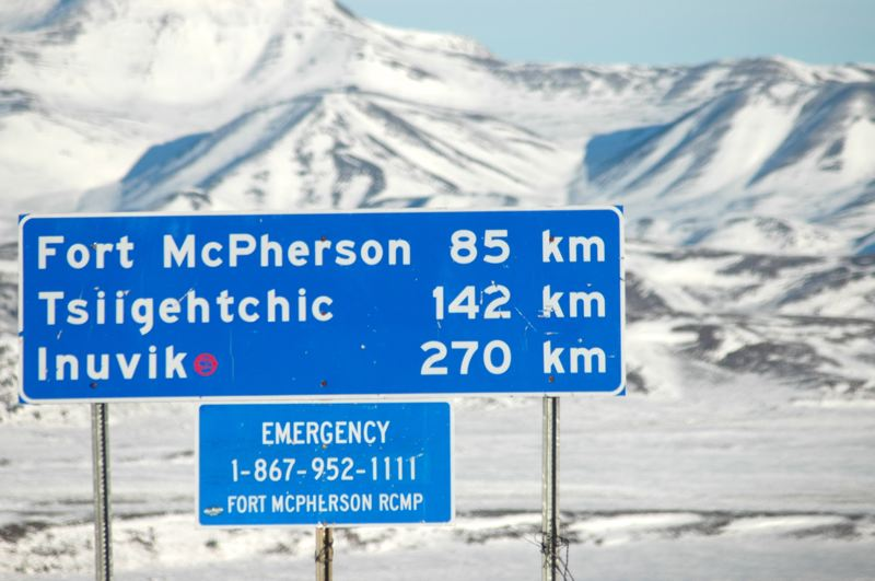 PMG PHOTO: JEFF ZURSCHMEIDE - The Alcan 5000 Winter Rally takes participants north of the Arctic Circle.