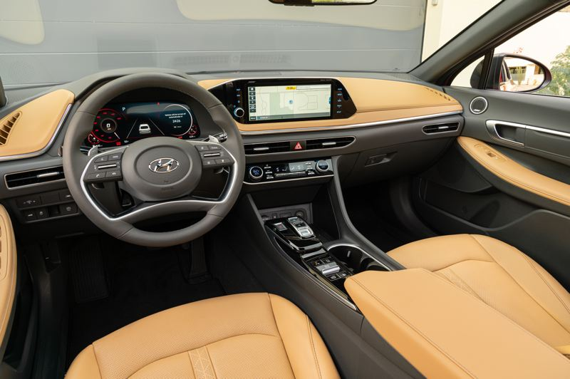 COURTESY HYUNDAI - The interior of the 2020 Hyundai Sonato is upscale at an affordable car price.