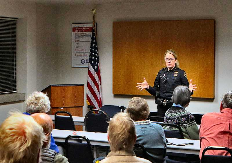 DAVID F. ASHTON - Despite a considerable shortage of officers, Portland Police still do respond to many non-crime calls - including homelessness, mental health, and drug issues - assured the new Portland Chief, Jami Resch, in her Southeast Portland appearance.