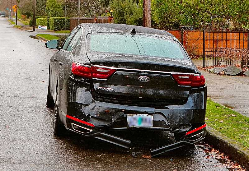 DAVID F. ASHTON - A Woodstock woman was getting things from the trunk of this Kia when she was hit and seriously injured by the car of a woman who was subsequently arrested for Driving while Intoxicated (Drugs).