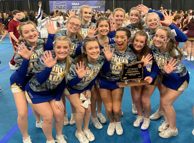 COURTESY PHOTO: BARLOW HIGH SCHOOL CHEER - The Barlow Bruins did the school proud at the recent state cheerleading championships.