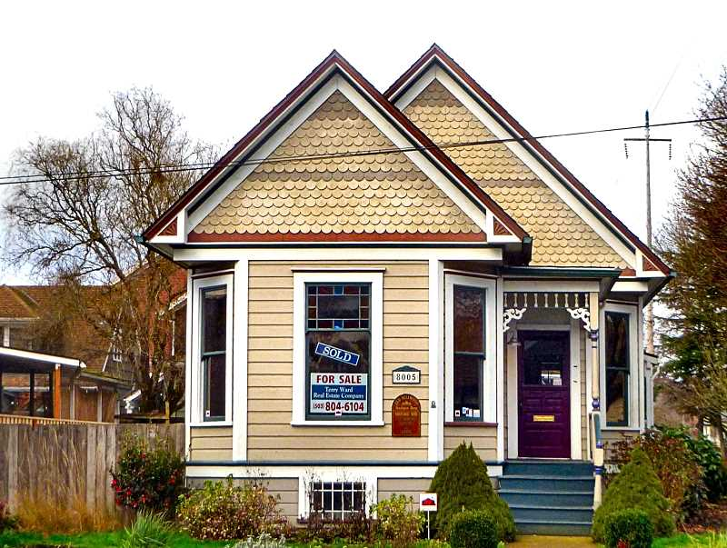 EILEEN G. FITZSIMONS - This small Queen Anne style home at S.E. 13th and Nehalem Street in Sellwood was built in 1892 as a family home. It will soon be replaced by a 19-unit multiplex, with commercial space on the ground level