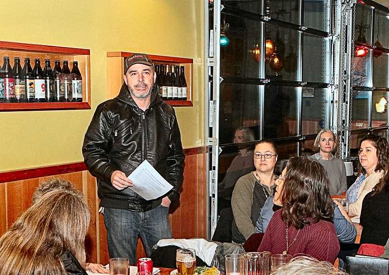 DAVID F. ASHTON - Woodstock Community Business Association President Thad Davis discussed WCBAs plans for the 2020, at their Annual Meeting at Double Mountain Brewpub.