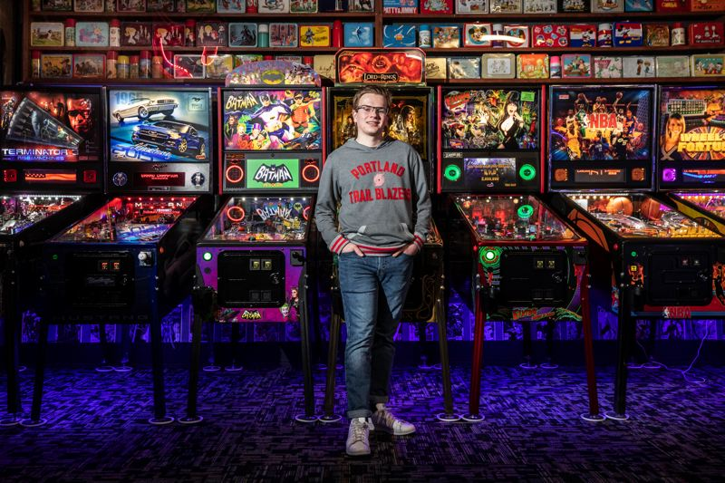 PMG PHOTOS: JONATHAN HOUSE - Wilson High School student Colin Urban has risen to eighth in the world and third among youth in the International Flipper Pinball Association rankings. One competitor expects Urban to be No. 1 in the world eventually.