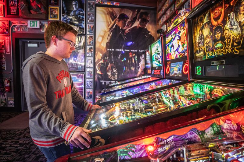 PMG PHOTO: JONATHAN HOUSE - Colin Urban said many of his classmates at Wilson High School know about his pinball success, but pinball is a niche thing: 'A lot of people can't relate to it, especially my age.'