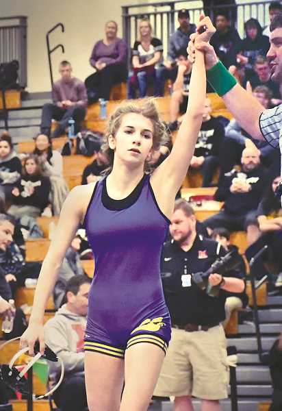PHOTO COURTESY OF JZJ PHOTOGRAPHY  - Sophia Redwine will join nearly two dozen teammates in pursuit of a team title for Newberg and she will be the first girl ever to wrestle for the Tigers in the boys' championships.