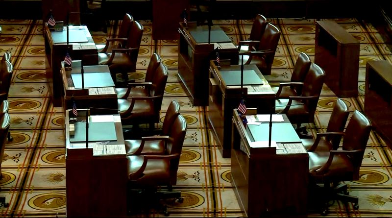 PMG FILE PHOTO - House and Senate Republicans were absent Tuesday, Feb. 25, from the Capitol in a showdown over carbon-reduction legislation.