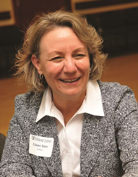 VERN UYETAKE - Eileen Stein, shown in 2016, took over as West Linn city manager that year. She left the city in January of this year.