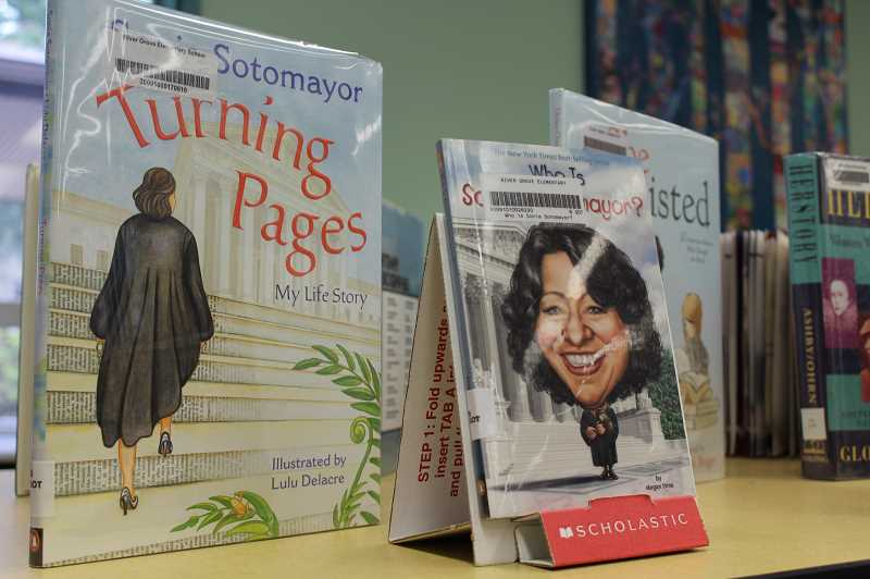 PMG PHOTO: ASIA ALVAREZ ZELLER - Elementary schoolers can learn about Sonia Sotomayor in the library at River Grove.