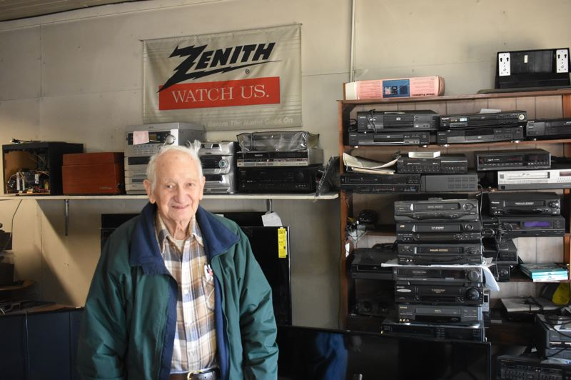 PMG PHOTO: EMILY LINDSTRAND - Longtime Estacada business owner Carl Prokop has listed his shop on Main Street for sale.