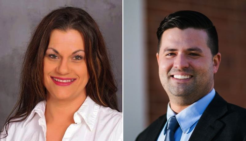 FROM LEFT: Angela Roman and Joey Nations are two contestants in the GOP primary for Oregon's Fifth Congressional District. The winner will take on incumbent Democrat Kurt Schrader.