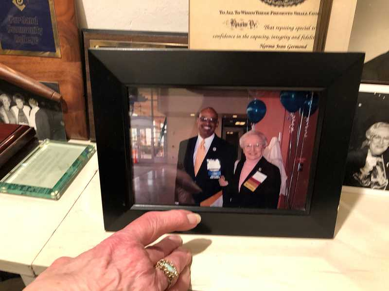 PMG FILE PHOTO  - Norma Jean Germond has a large collection of awards and photographs of notable friends she made during her political career.