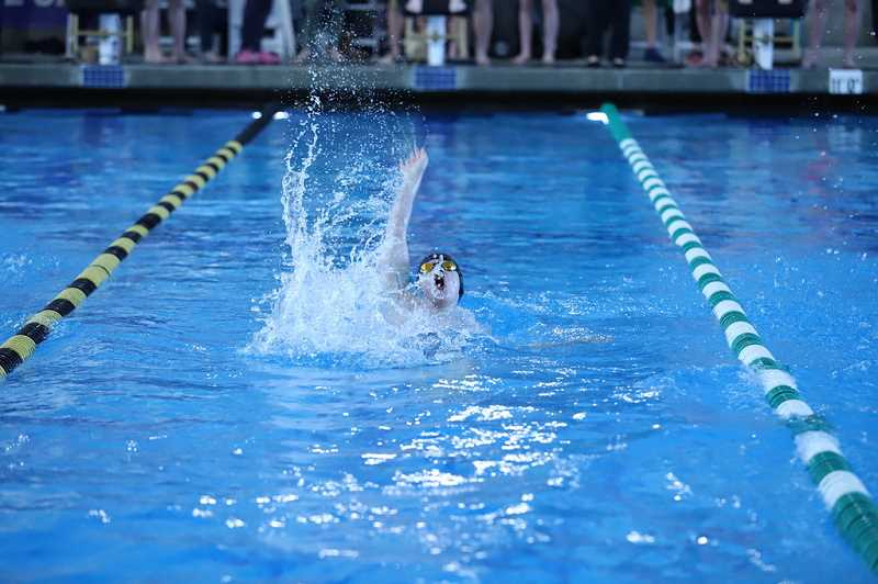 COURTESY PHOTO: BILL WILSON - Scappoose boys swimmer Nash Wilson was one of many A finalists for the Indians at the 5A state meet.