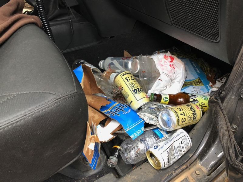 Trash collected near Olallie Lake