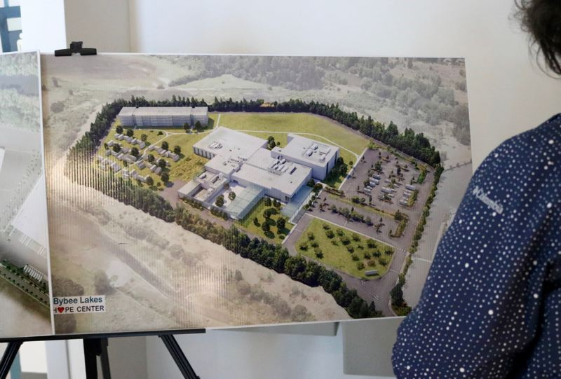 PMG PHOTO: ZANE SPARLING - Renderings for the Bybee Lakes Hope Center envision new buildings on site, as well as small pods of housing and RVs in the parking lot.