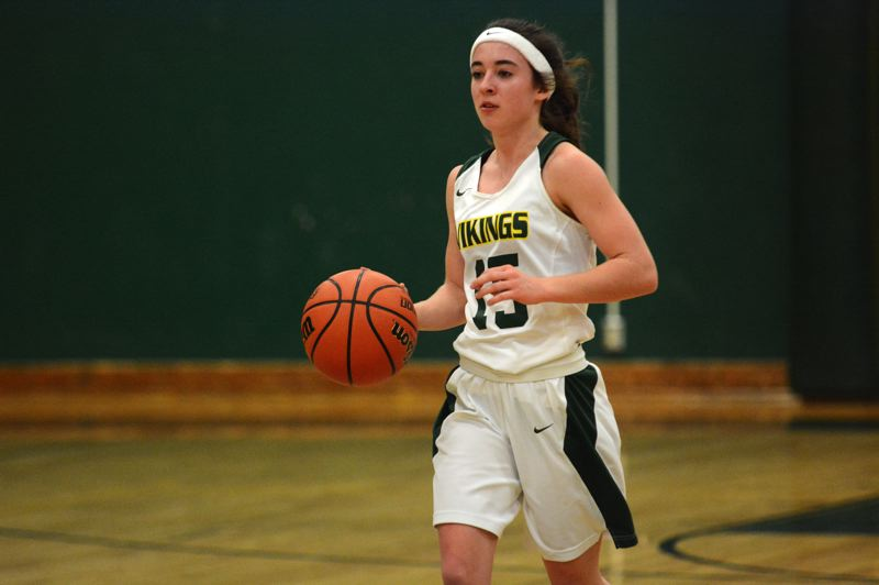 PMG PHOTO: DEREK WILEY - Colton senior Madi Olsen had nine points and four steals Friday against Central Linn.