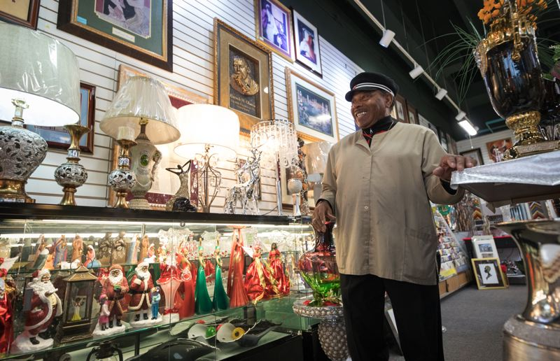 PMG: JAIME VALDEZ - Jerome Polk runs JP's Custom Framing & Gallery with his sister, Sadie. The business has been a steady long-time presence on Northeast Killingsworth, even as the neighborhood has changed.