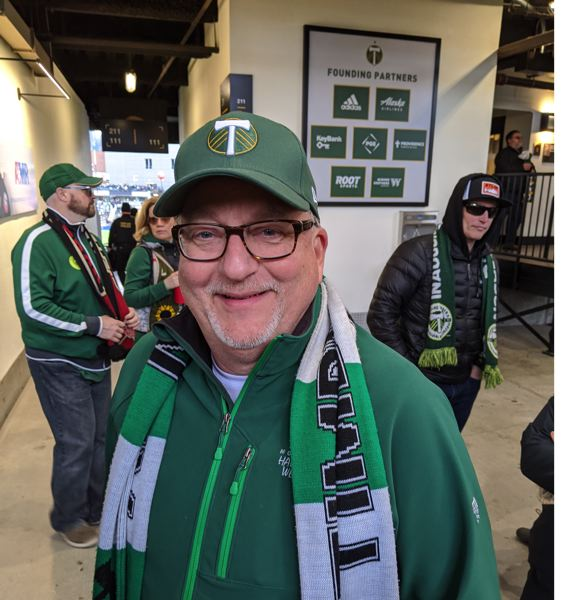 PMG PHOTO: JOSEPH GALLIVAN  - Doug Alford, who been coming to the Timbers for the last 15 seasons, had different hopes and expectations. 'What I hope is that they improve their defense, because it's kind of porous right now,' he said.