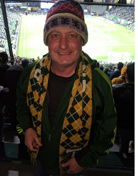 PMG PHOTO: JOSEPH GALLIVAN  - Chris Marko, up the back of the North End in 204, used to watch the Timbers in the 1970s and 1980s, and is open-minded about this season.