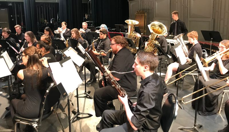 COURTESY PHOTO: MHCC MUSIC DEPARTMENT - The Mt. Hood Community College Symphony Band, pictured here, will perform a combined concert with the Mt. Hood Pops Orchestra on Sunday, March 8.