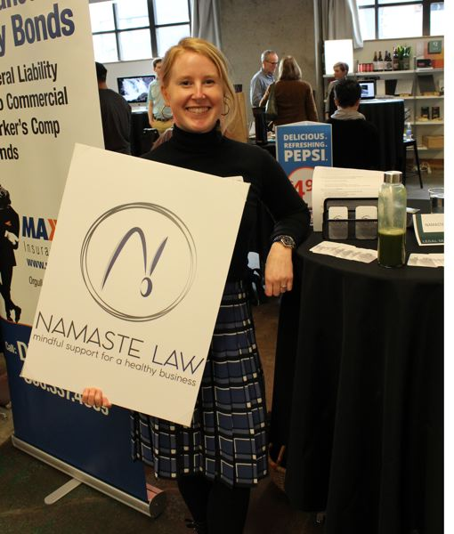PMG PHOTO: JOSEPH GALLIVAN - Cooper Warner (left) started Namaste Law for yoga teachers and has now spread to other female wellness companies.